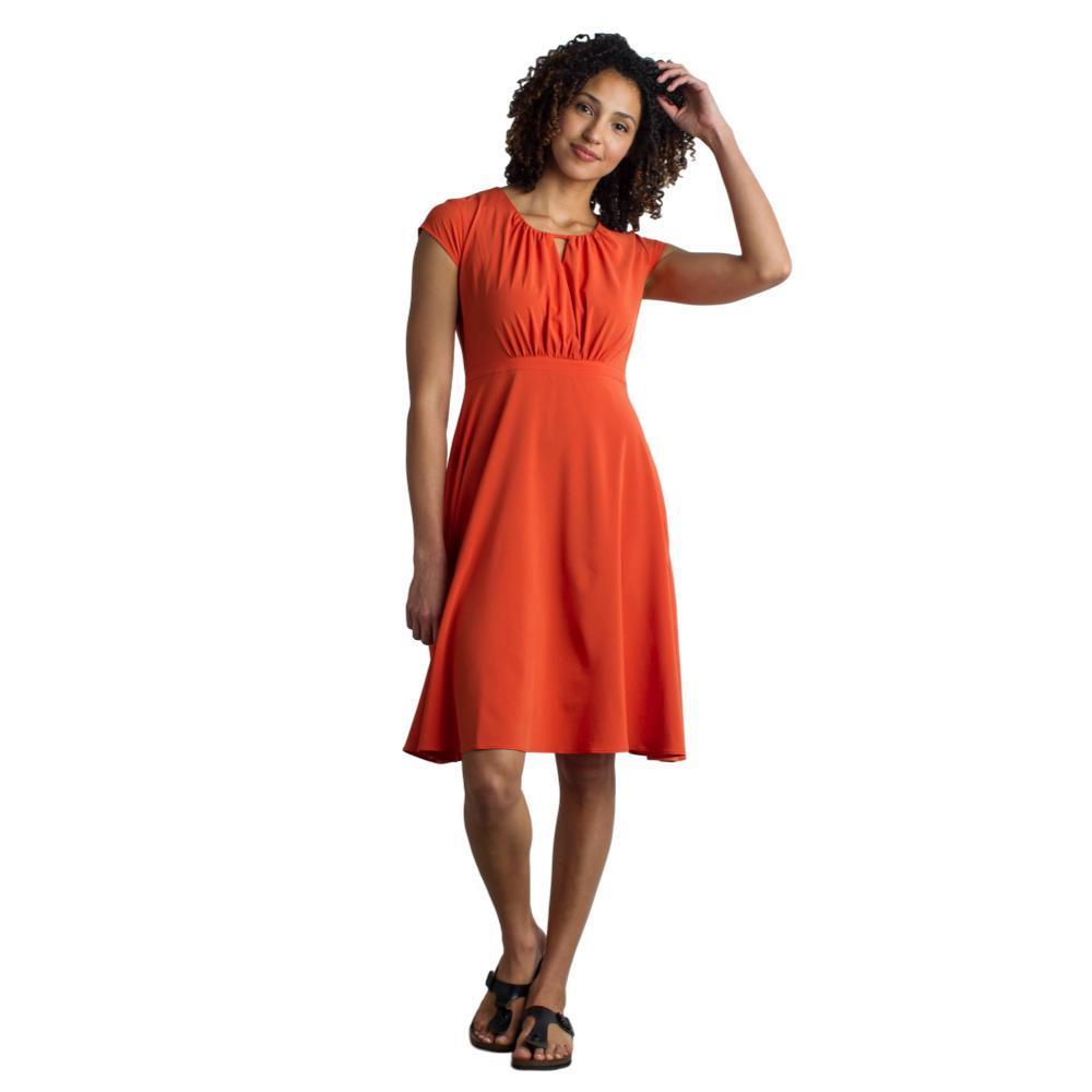 ExOfficio Women's Kizmet Cross Front Dress PAPRIKA