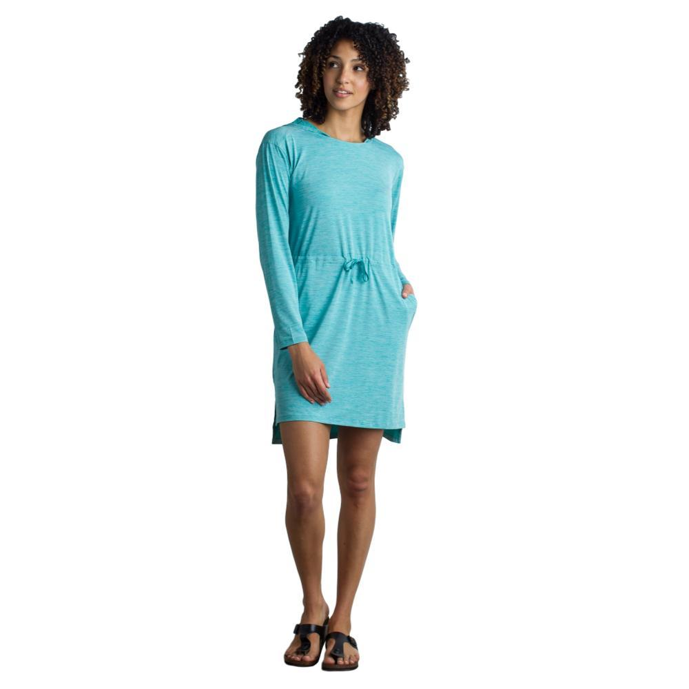 ExOfficio Women's Sol Cool Kaliana Hooded Dress SALTWATER