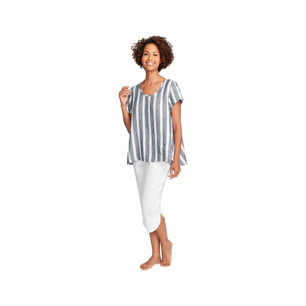 FLAX Women's Shirttail Crop Pants PUREWHT