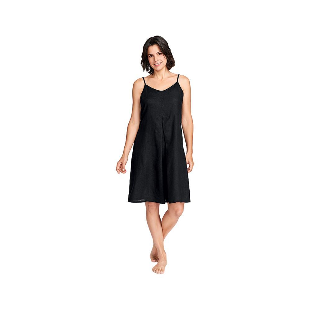 FLAX Women's Pleated Dress BLACK