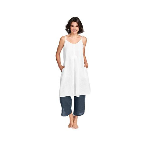 FLAX Women's Pleated Dress Purewht