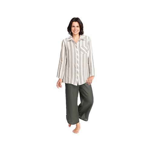 FLAX Women's Bias Back Shirt Naturalstr