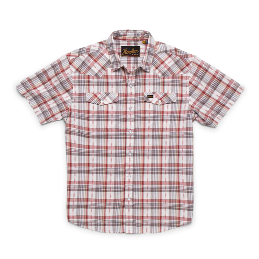 Howler Brothers Men's H Bar B Short Sleeve Snapshirt BRICK