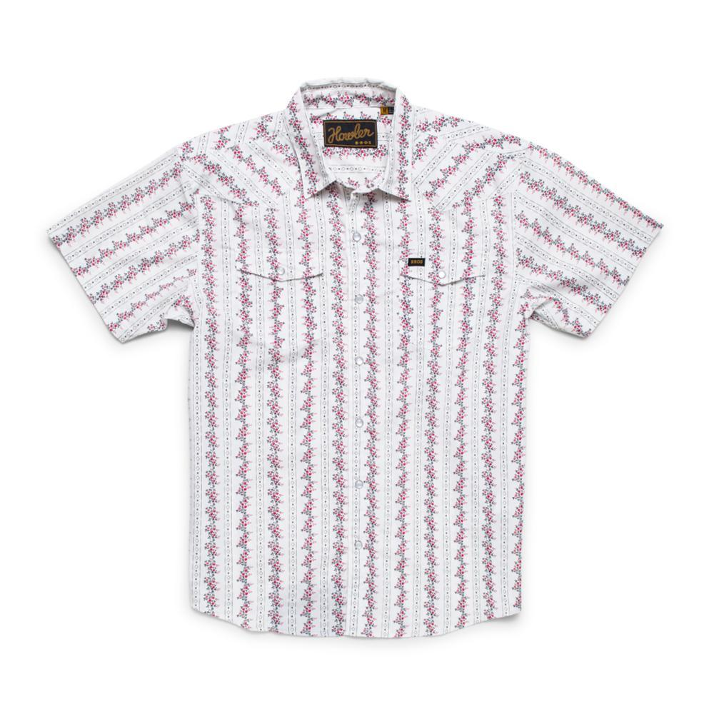 Howler Brothers Men's H Bar B Short Sleeve Snapshirt ROSESTRIPE