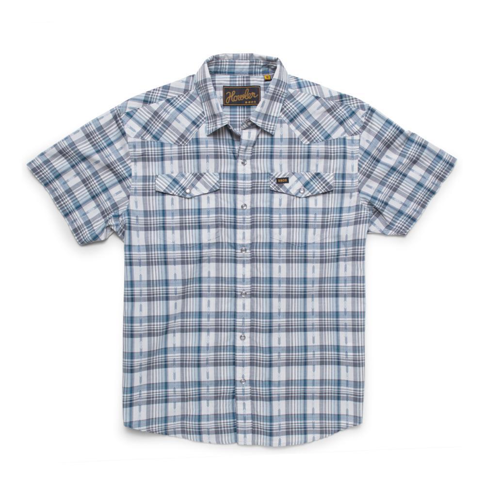 Howler Brothers Men's H Bar B Short Sleeve Snapshirt SPACEBLUE