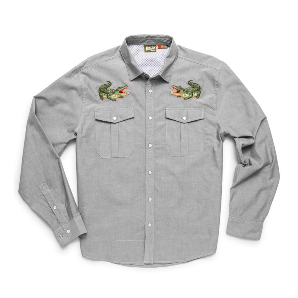 Howler Brothers Men's Long Sleeve Gaucho Snapshirt OLIVE
