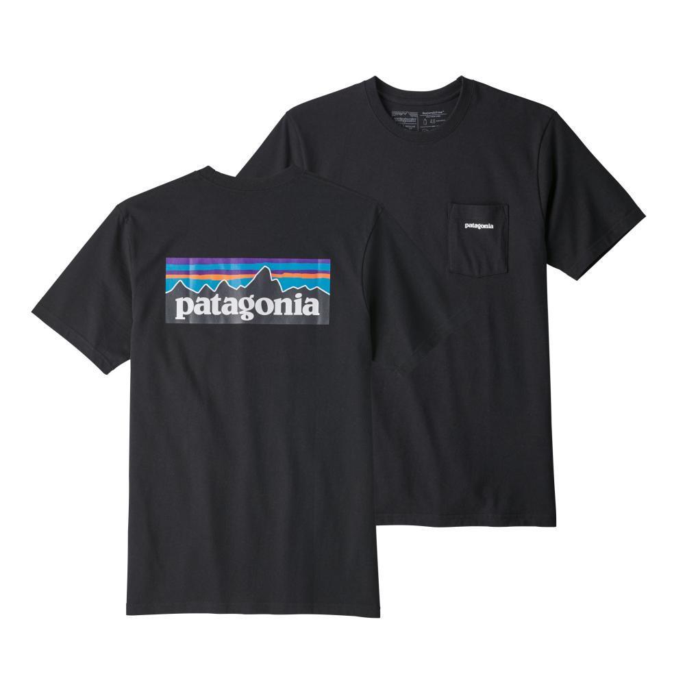 Patagonia Men's P-6 Logo Pocket Responsibili-Tee BLACK_BLK
