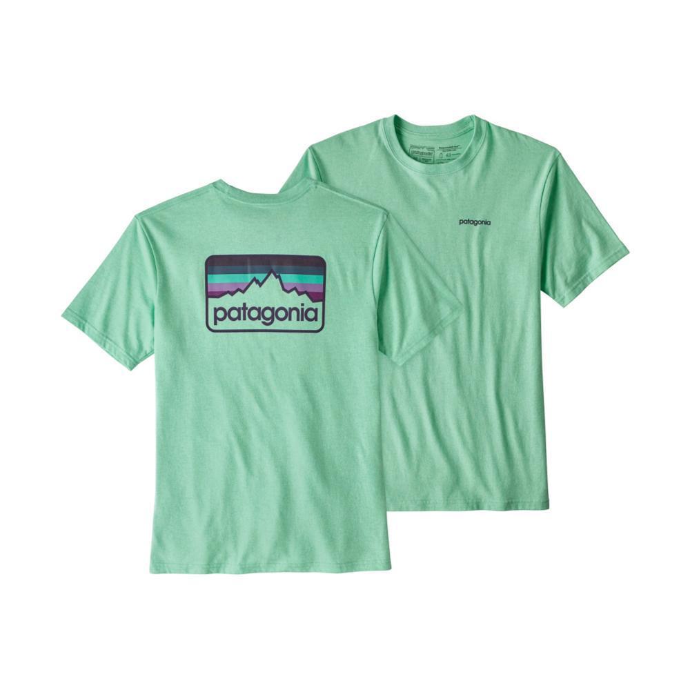 Patagonia Men's Line Logo Badge Cotton/Poly Responsibili-Tee BENDBLUE_BNDB