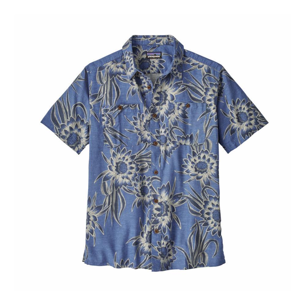 Patagonia Men's Back Step Short Sleeve Shirt CEDO_BLUE