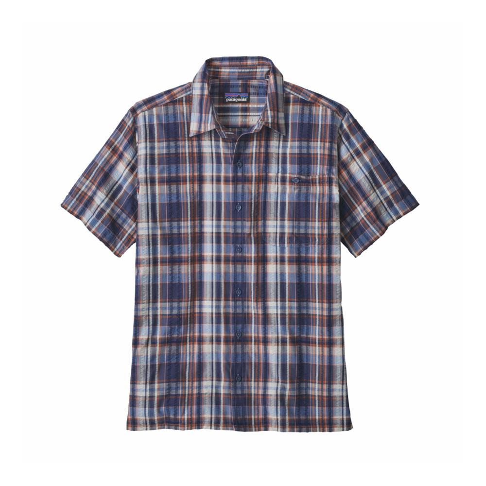 Patagonia Men's Puckerware Short Sleeve Shirt FRDO_BLUE