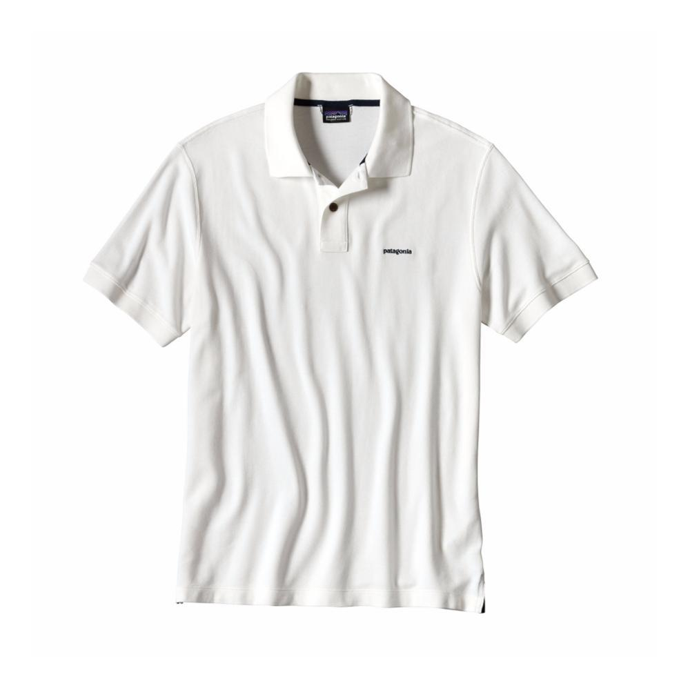 Patagonia Men's Belwe Pique Polo WHI_WHITE