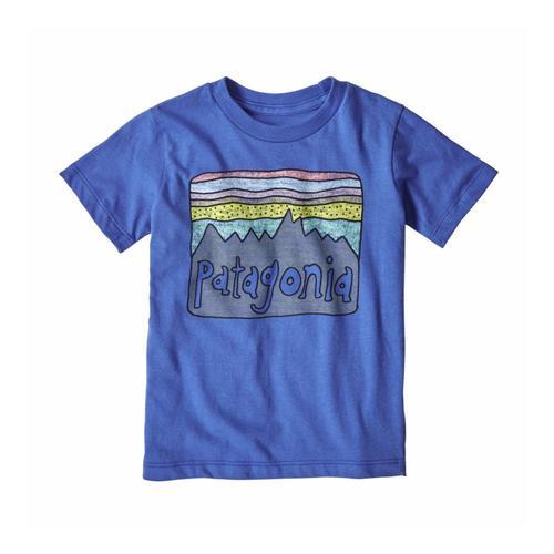 Patagonia Infant Baby Fitz Roy Skies Organic  T-Shirt Blue_imb