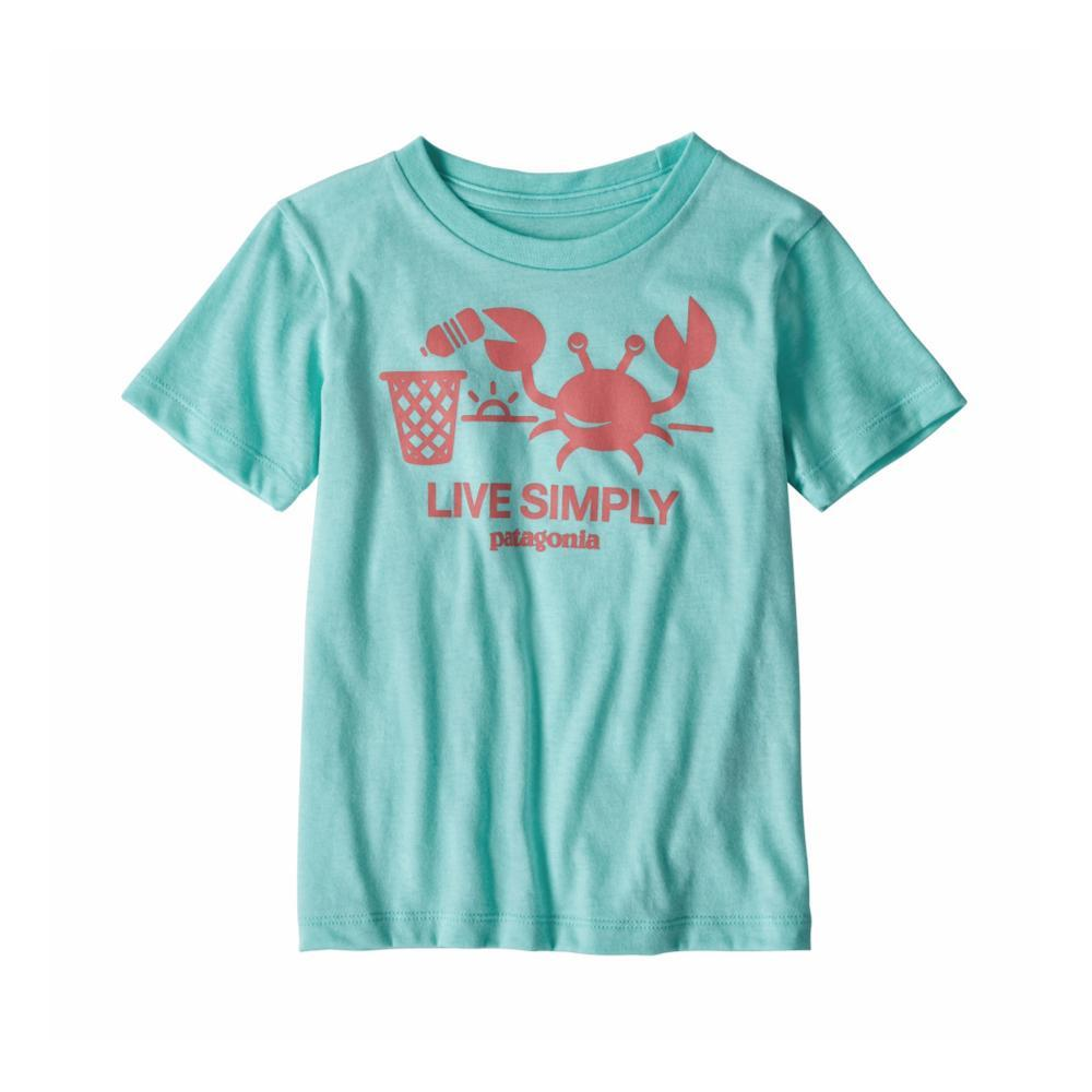 Patagonia Infant Baby Live Simply Organic T-Shirt BLUE_BNDB