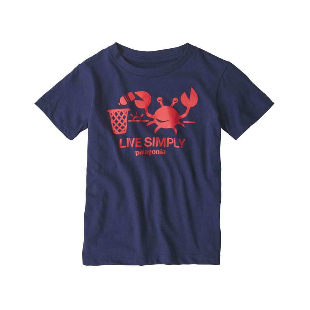 Patagonia Infant Baby Live Simply Organic T-Shirt NAVY_CNY