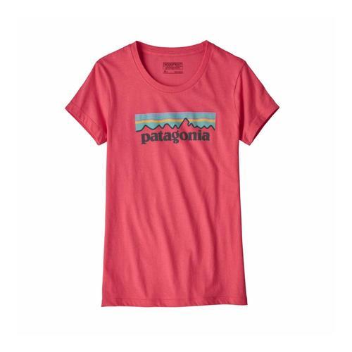 Patagonia Girls Pastel P-6 Logo Organic T-Shirt Pink_srap