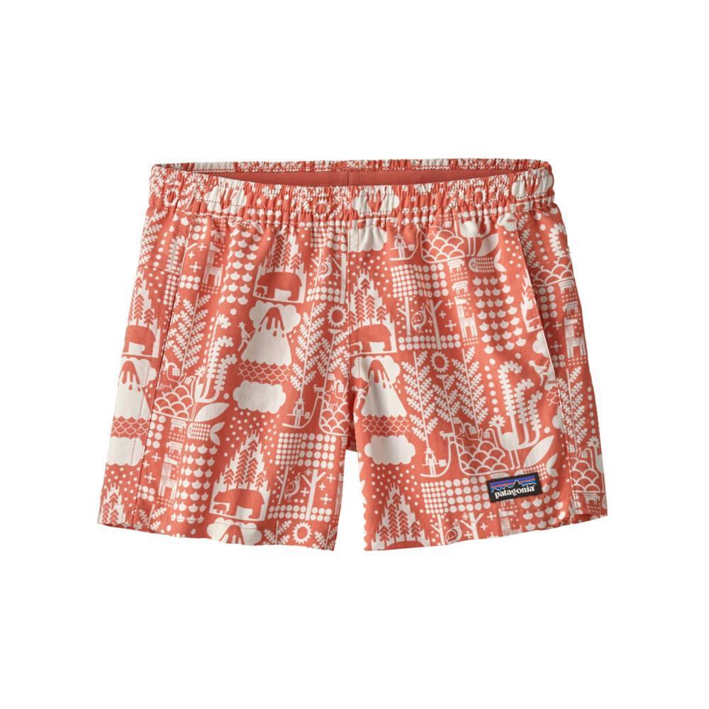 Patagonia Girls Baggies Shorts PINK_MQPE