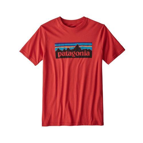 Patagonia Kids P-6 Logo Organic T-Shirt Fire_fre