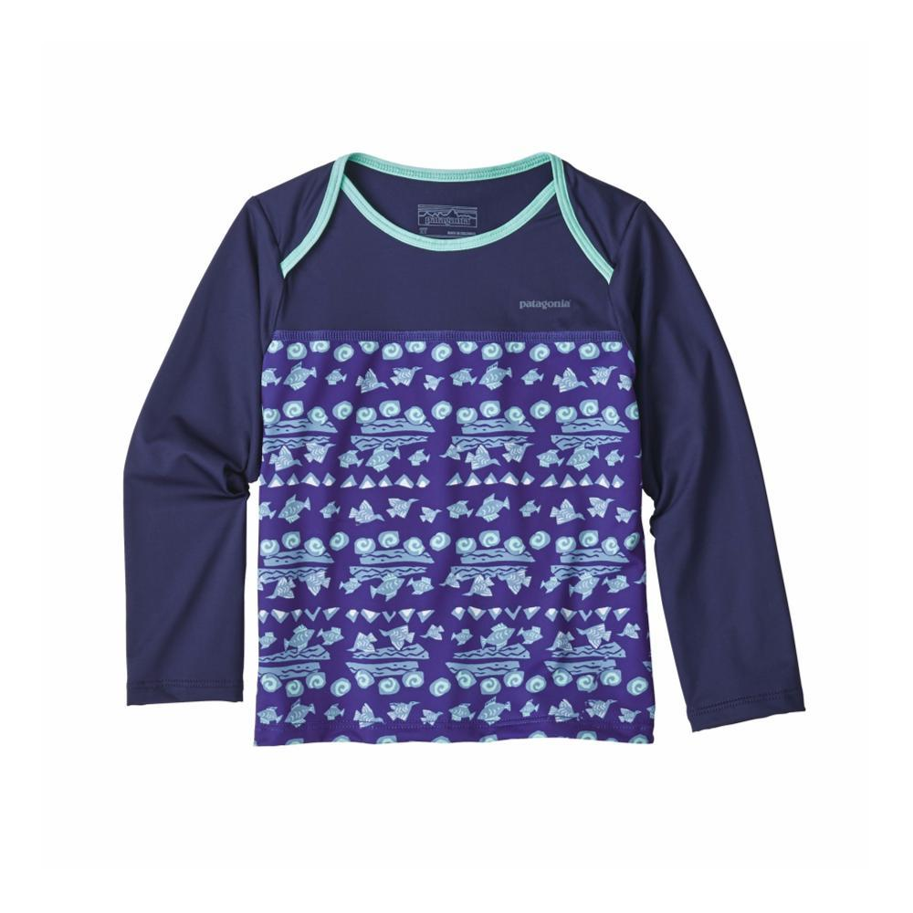 Patagonia Infant Baby Little Sol Rashguard BLUE_BFRA