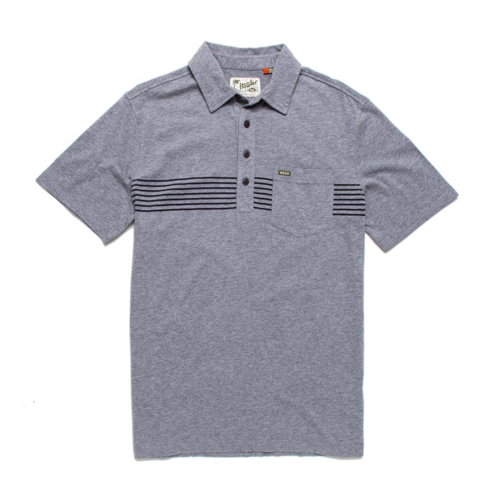 Howler Brothers Men's Crockett Polo Shirt GREYBLK