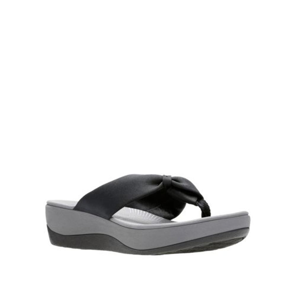 Clarks Women's Arla Glison Flip Sandals BLACK