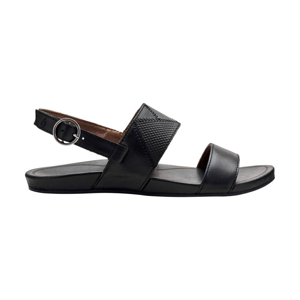 OluKai Women's Hi'ona Pa'i Sandals BLACK