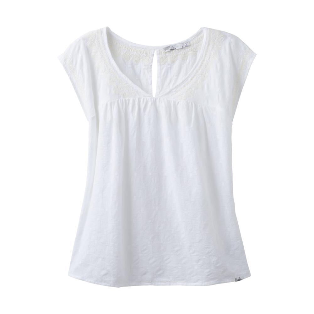 prAna Women's Short Sleeve Blossom Top WHITE