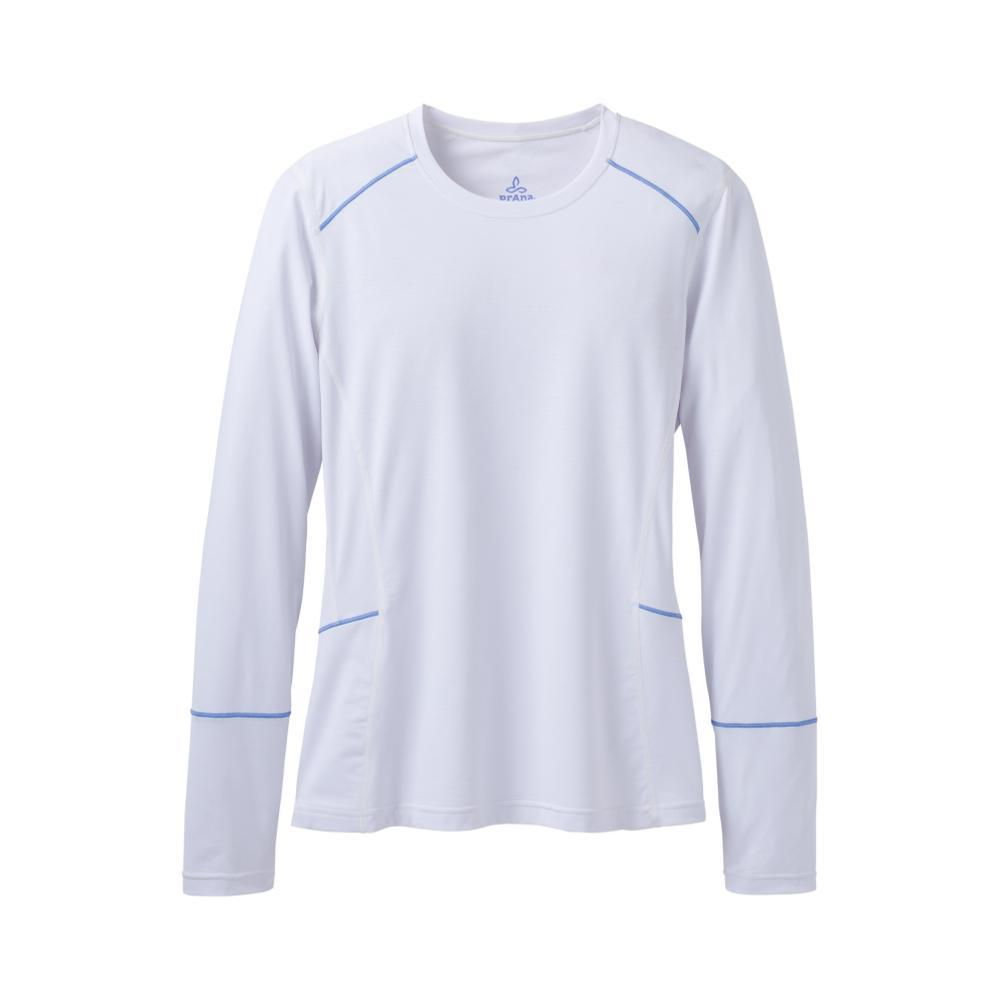 prAna Women's Long Sleeve Eileen Sun Top WHITE