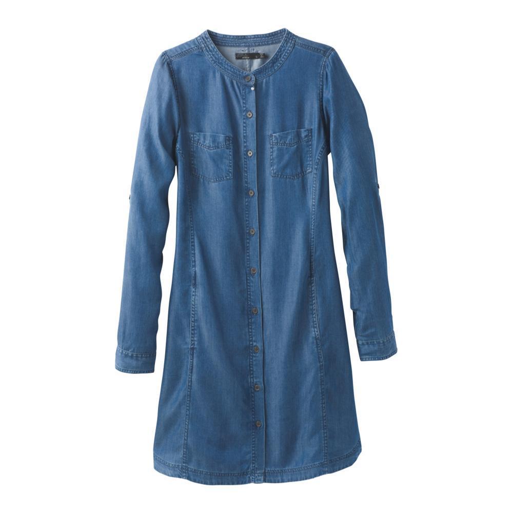 prAna Women's Aliki Shirt Dress ANTIBLUE