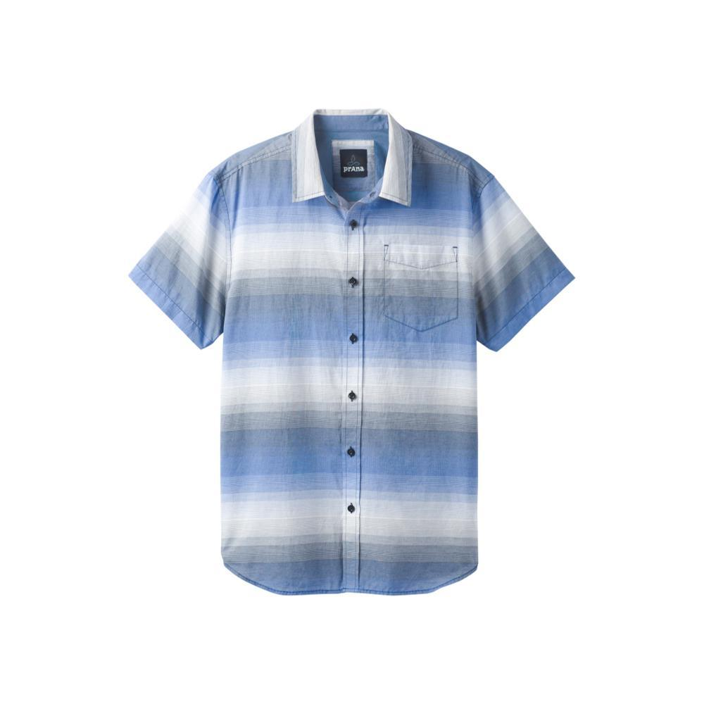 prAna Men's Tamrack Stripe Short Sleeve Shirt EQUIBLUE