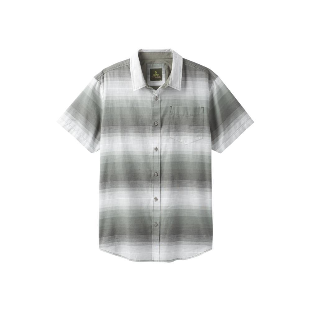 prAna Men's Tamrack Stripe Short Sleeve Shirt GRAVEL