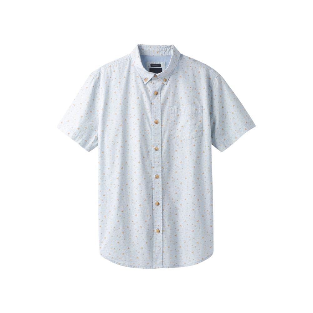 prAna Men's Broderick Floral Slim Short Sleeve Shirt BEAMBLUE
