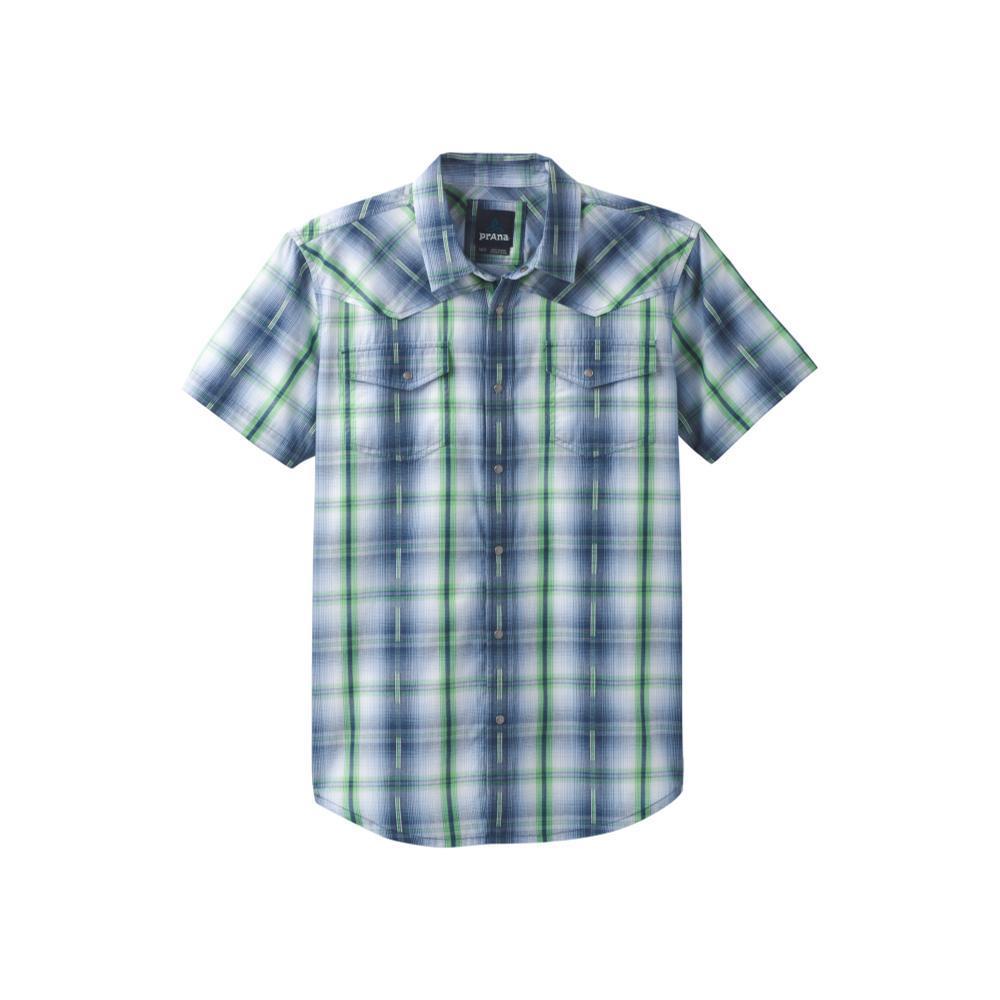 prAna Men's Holstad Short Sleeve Shirt EQUIBLUE