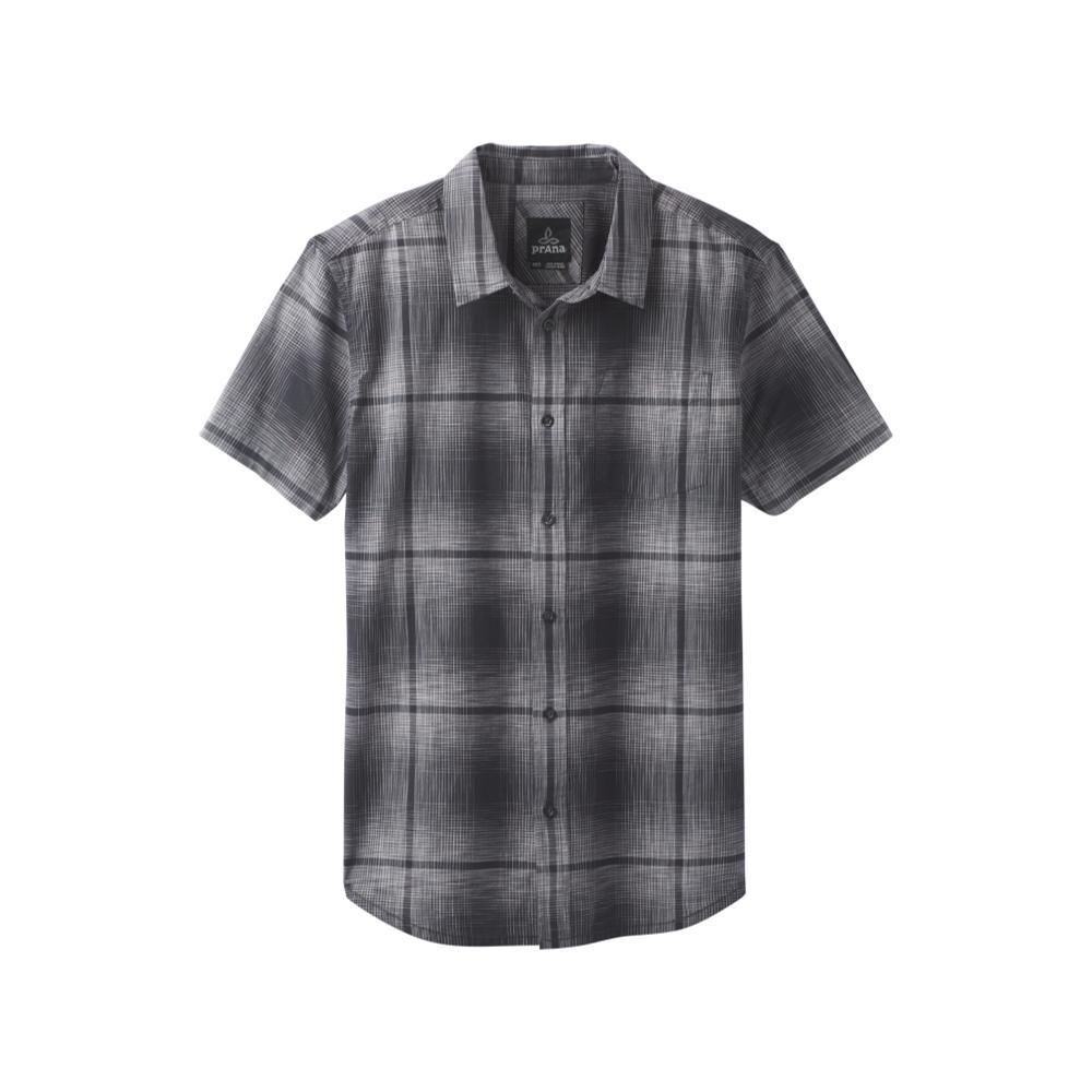 prAna Men's Ecto Space Dye Short Sleeve Shirt CHARCOAL