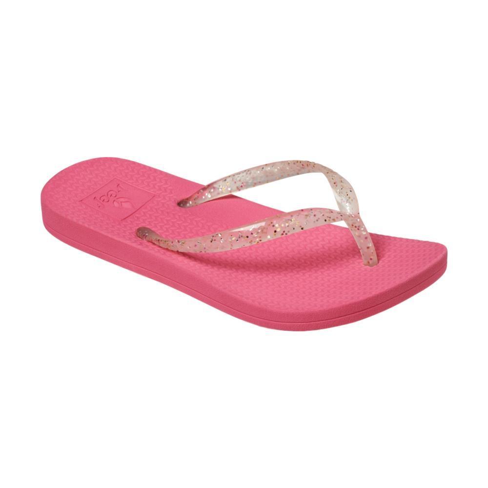 Reef Girls Little Reef Escape Lux Shimmer Sandals HOTPINK_HPK