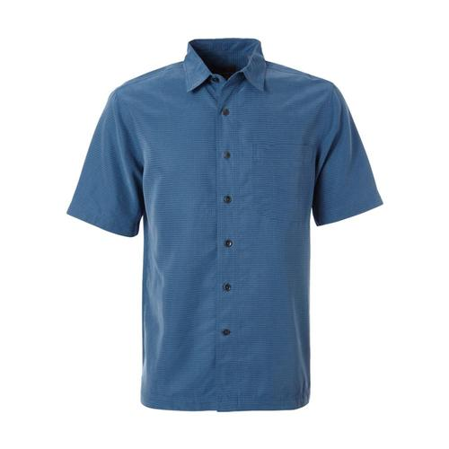 Royal Robbins Men's Desert Pucker Dry Short Sleeve Shirt Darkblue