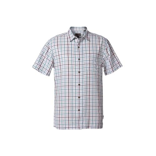 Royal Robbins Men's Mojave Pucker Plaid Short Sleeve Shirt Natlantic