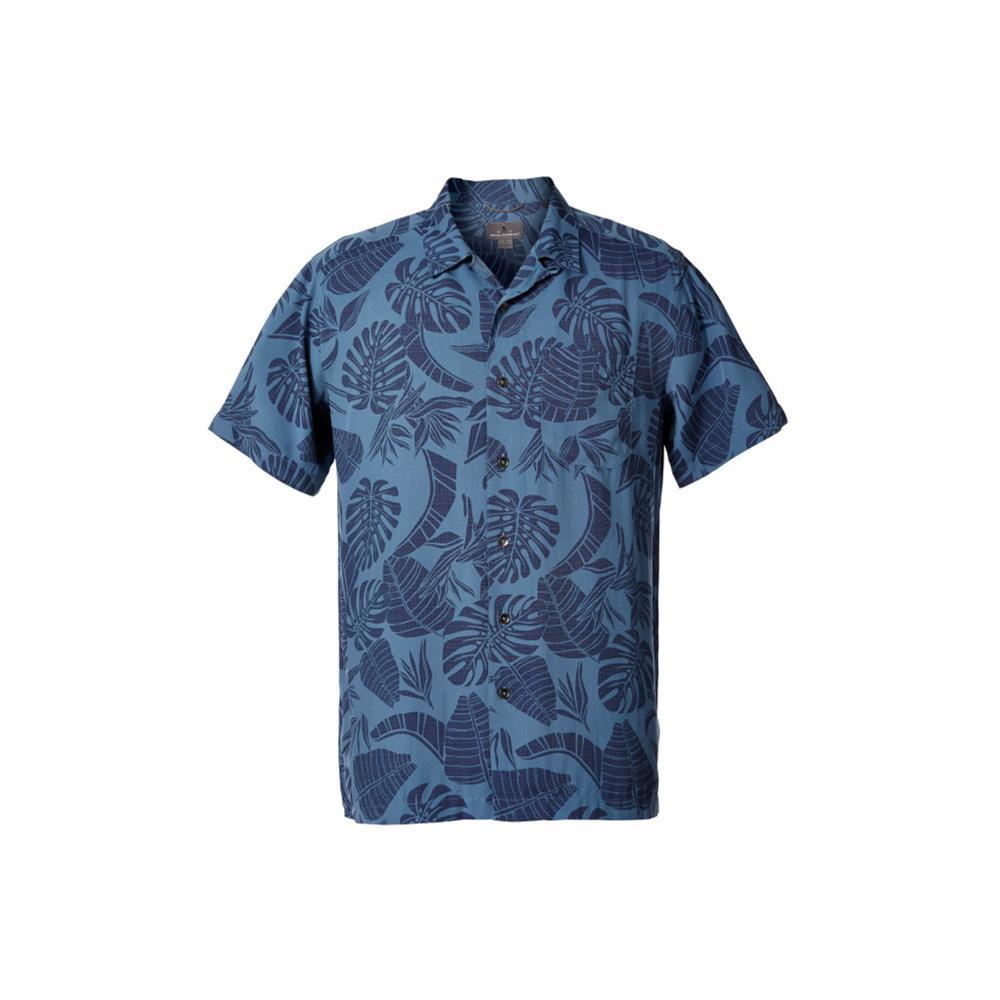 Royal Robbins Men's Throwback Palm Short Sleeve Shirt BLUESTONE