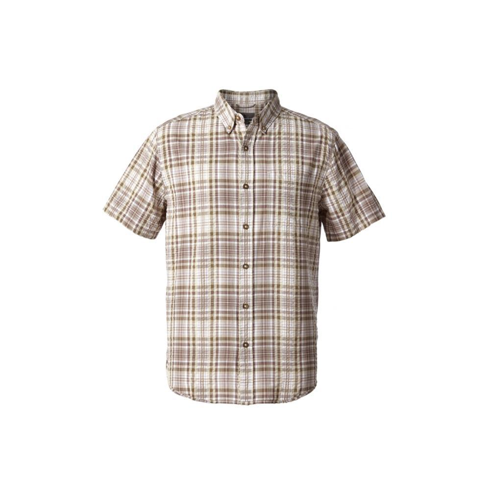 Royal Robbins Men's Mid-Coast Seersucker Plaid Short Sleeve Shirt FALCON