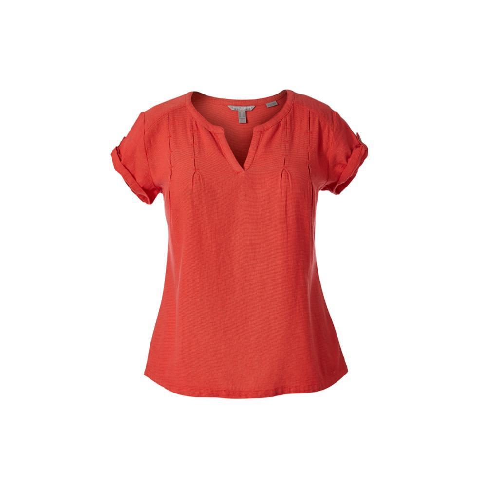 Royal Robbins Women's Cool Mesh Eco Short Sleeve Shirt FLAME