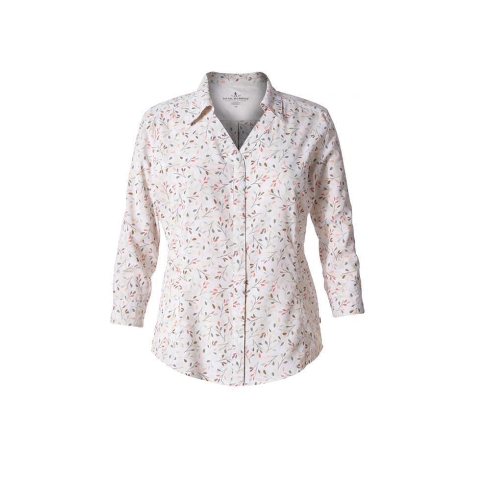 Royal Robbins Women's Expedition Chill Print 3/4 Sleeve Shirt WHTPRINT