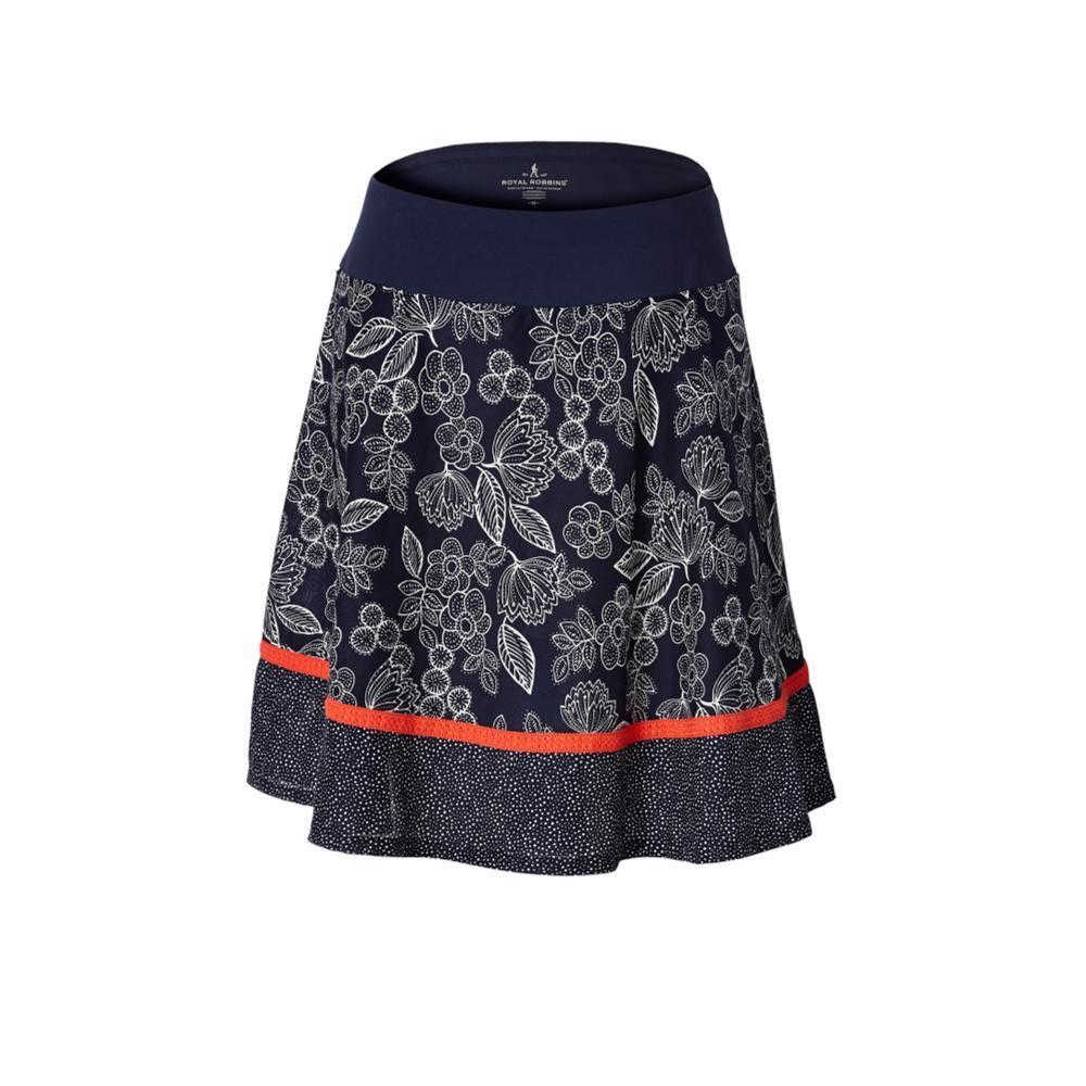 Royal Robbins Women's Cool Mesh Eco Skirt Print BLUEFLOWER