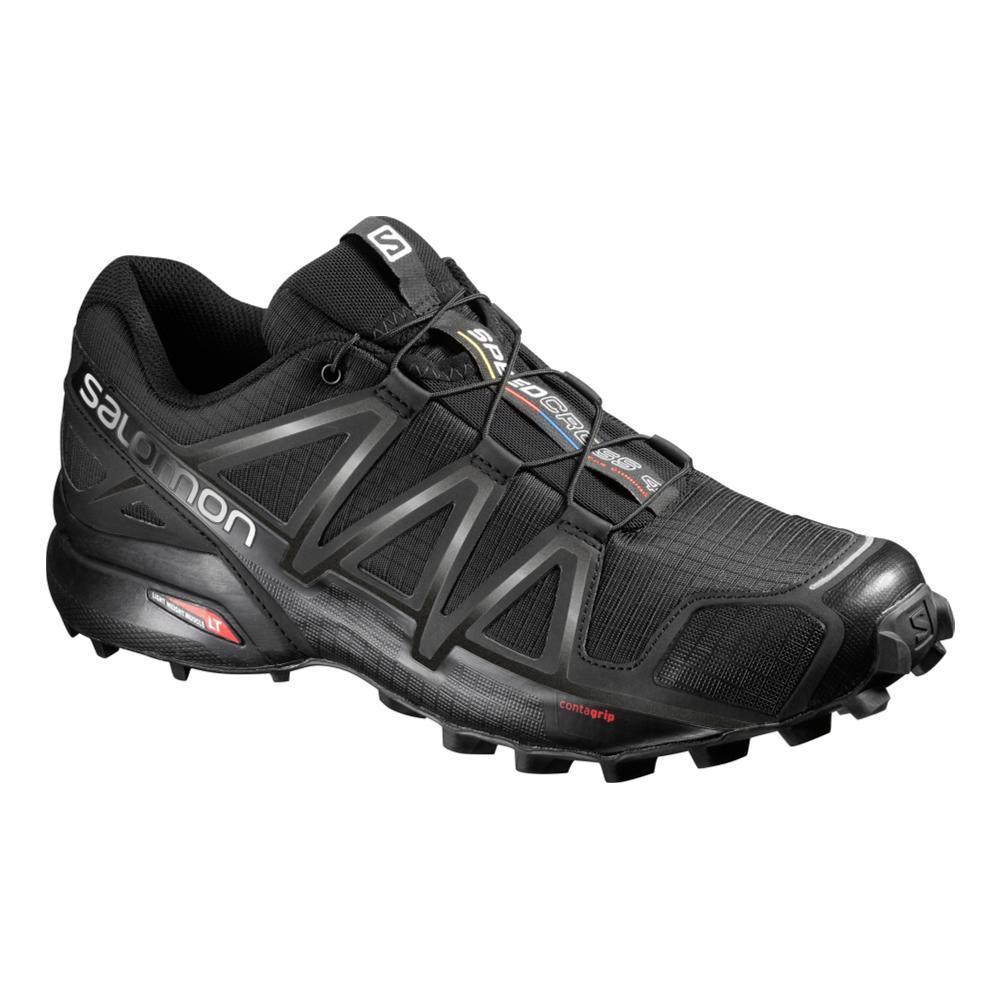 Salomon Men's Speedcross 4 Trail Running Shoes - Wide BLK.BLK.BMTL