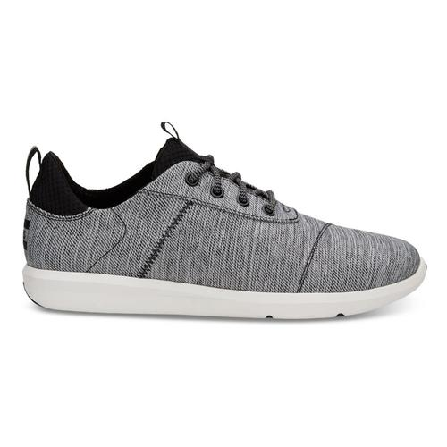 TOMS Men's Black Space-Dye Cabrillo Sneakers Blkspacedye