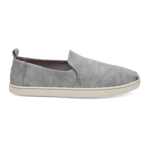 TOMS Women's Drizzle Grey Washed Twill Deconstructed Alpargatas