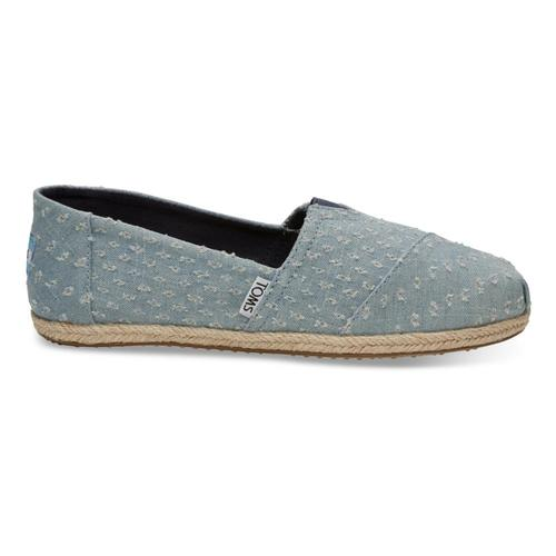 TOMS Women's Seaglass Torn Denim Espadrilles Apargatas Denim