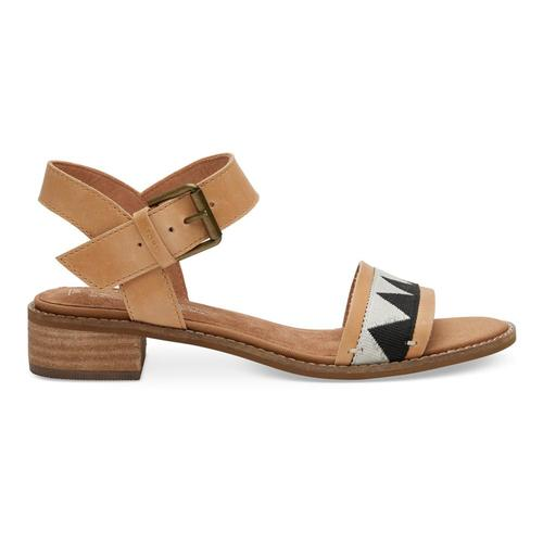 TOMS Women's Honey Leather Camilia Sandals Honeytrib