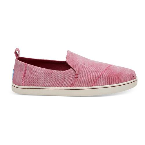 TOMS Women's Henna Red Washed Twill Deconstructed Alpargatas