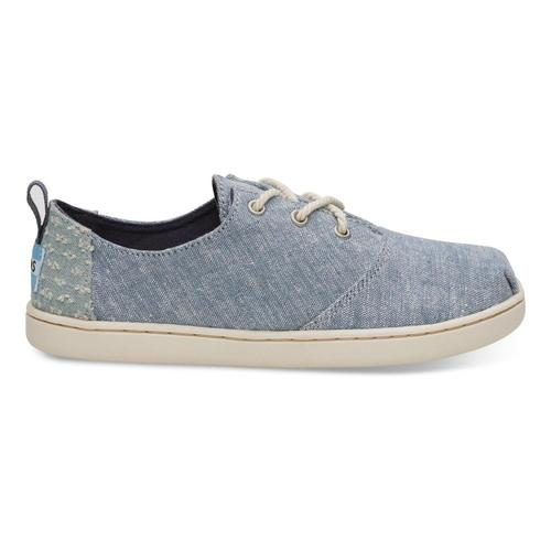 TOMS Youth Blue Slub Chambray Lumin Sneakers