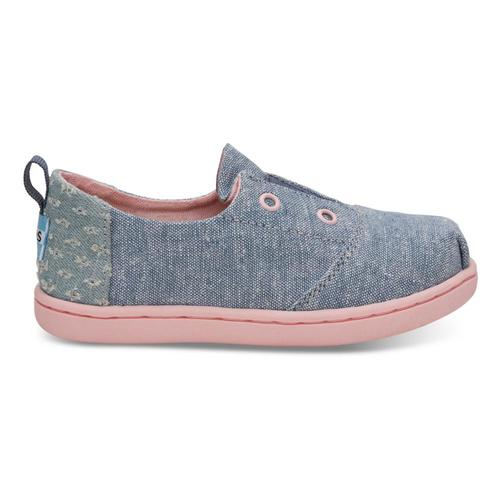 TOMS Kids Blue Slub Chambray Lumin Sneakers