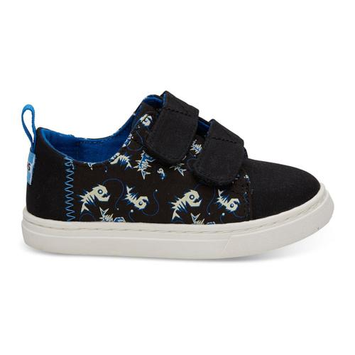 TOMS Kids Black Glow In The Dark Weird Fish Lenny Sneakers